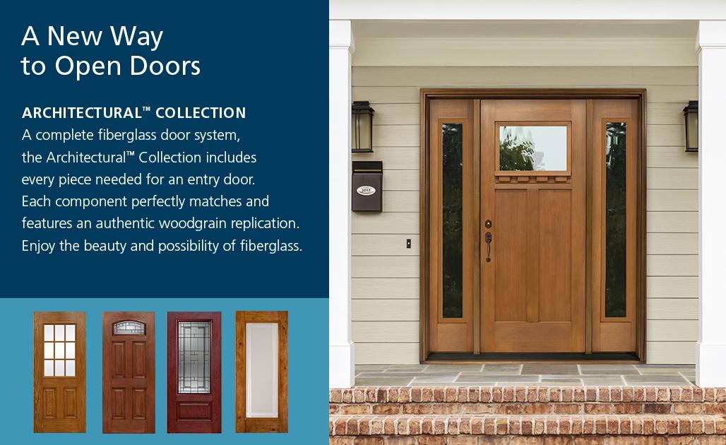 Architectural fiberglass jeld wen doors windows for Jeld wen architectural fiberglass door